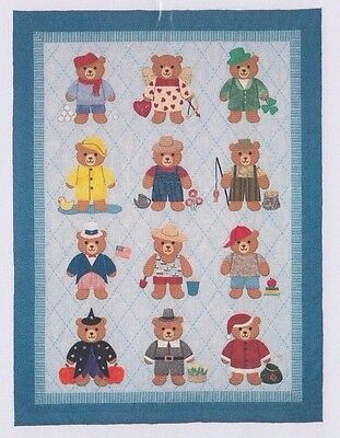Bearly A Month - cute applique & pieced quilt PATTERN - Spring Creek