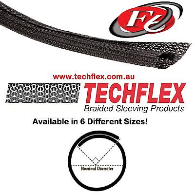 3 meters - Techflex Flexo F6 Self  Wrapping Split Braided Cable Sleeving