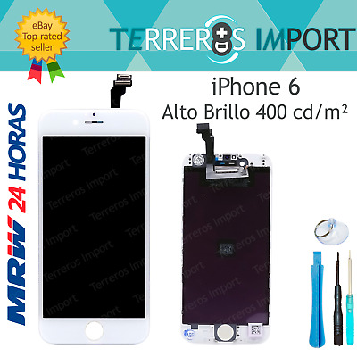 "Pantalla iPhone 6 Completa Display LCD 4.7"" Blanco Frontal Completo"