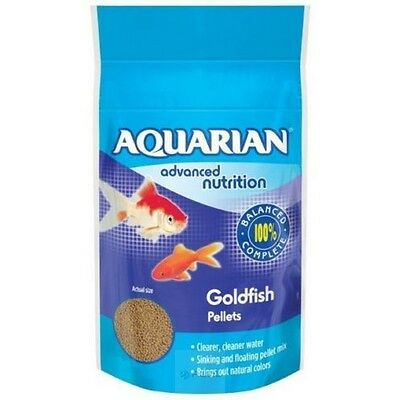 AQUARIAN GOLDFISH PELLET FISH FOOD 100g 0317163038109