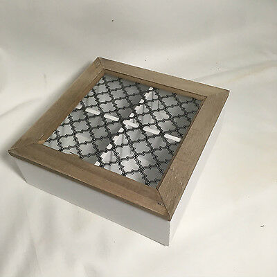 Storage/Jewellery/Tea Box - Wooden with Glass Lid