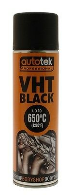 Autotek AT0VHTB500 VHT Black Paint 500ml New