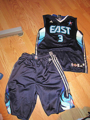 Phoneix 2009 NBA East All Star #3 Wade shorts and jersey basketball outfit kids