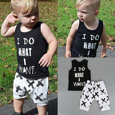 2pcs Toddler Kids Baby Boy T-shirt Tops+Shorts Pants Summer Outfits Clothing Set