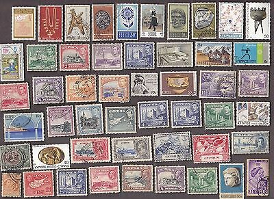 200 All Different CYPRUS Stamps