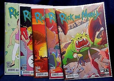 Issues 11,12,13,14,15 of Rick and Morty First Prints **We Combine Shipping**