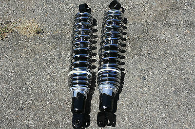 """CB550 CB750 CB GS Eye to clevis 14.4""""  365mm Shocks Shock absorbers no top cover"""