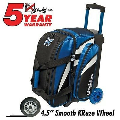 KR Strikeforce Cruiser Smooth Blue/White/Black 2 Ball Roller Bowling Bag