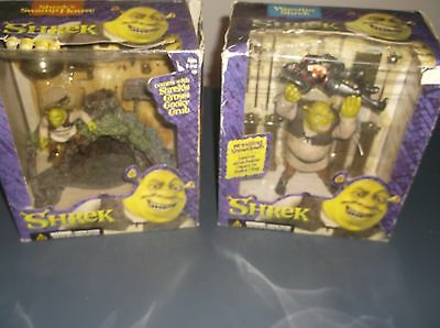 SHREK WRESTLIN AND SWAMP HOUSE SETS STILL IN BOXES McFARLANE TOYS