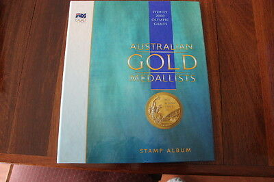 Sydney 2000 Olympic Games Australian Gold Medallsts Stamp Album