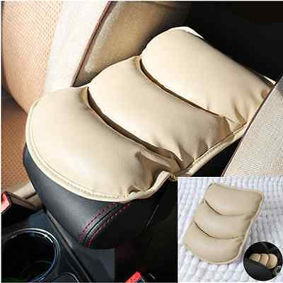 Car SUV Center Armrest Console Box Soft Pad Cover Cushion Durable Wear Mat Beige