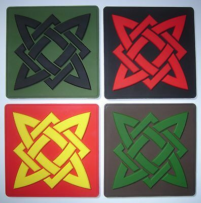 SVAROG star morale PVC patch with contact tape (hook and loop)