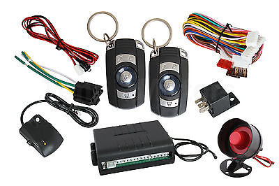 12V Voiture Universel Security Système D'alarme 2 Commandes À Distance Shocking