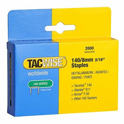 "Tacwise Type 140 Series 8mm (5/16"") Staples Galvanised Pack Of 2000, 0346"