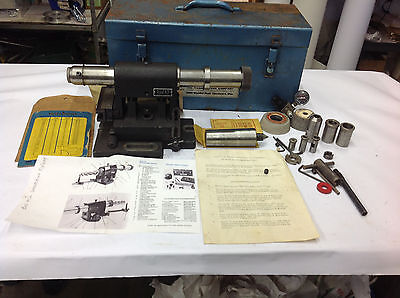 Weldon 200 End Mill Grinding Sharpening Fixture w/Metal Box. 62 lbs.