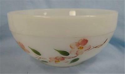 Vintage Peach Blossom Colonial Kitchen Mixing Bowl Fire King Paint Wear AS IS O