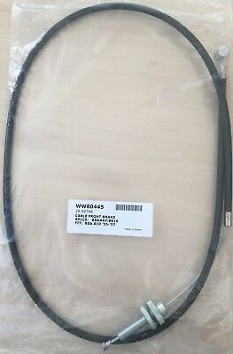 67-8610 - Front Brake Cable - BSA - M20, M21, M33 (1949-55) 8'' brake - WW80445