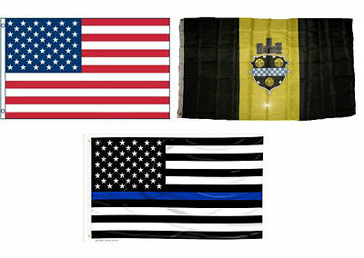 3x5 Trump Red /& State of Pennsylvania /& City of Pittsburgh Set Flag 3/'x5/'