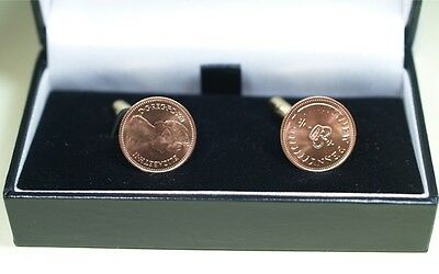 35th Birthday 1981 Old Half Pence Coin Cufflinks - 1981 35th birthday cufflinks