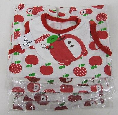 Baby Girls boys Romper Suit cute white red Apple up to 1 year wholesale lot x 5