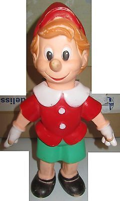 Pinocchio In Gomma vintage toy senza marchio rubber SPESE GRATIS