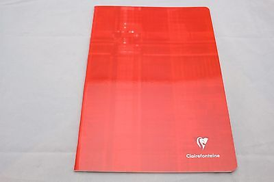 """Clairefontaine Staplebound Notebook  8"""" X 11"""" Graph Red"""