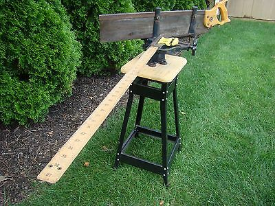 Stanley No 100 Miter Picture Frame #100 Saw Vice Tool Rare Complete Wood Ruler