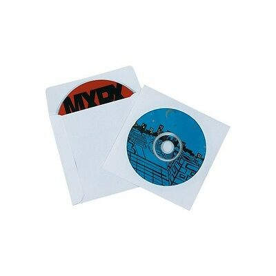"""CD Sleeves, Paper Windowed, 4 7/8""""x5"""", White, 500/case"""
