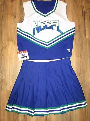 Adult Sized 44/32 Cheerleader Uniform Outfit Sexy Fun Cosplay Costume XL