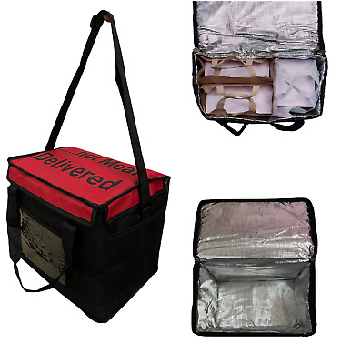 """Hot Food Delivery Bag Size:14""""x12""""x10"""" for Kebab Indian Chinese Food Delivery"""