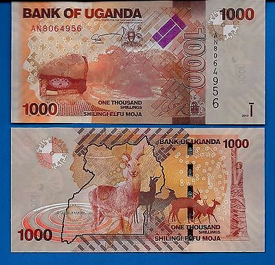 Uganda P-49 1000 Shillings Year 2010 Uncirculated Banknote FREE SHIPPING