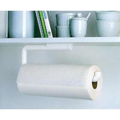White ABS Plastic Wall Mount Paper Towel Holder by Interdesign 35001