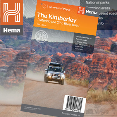 Hema Maps The Kimberley Ed 15th Featuring the Gibb River Road