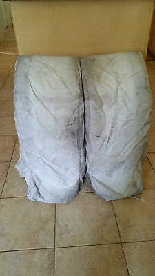 Roller Goalie Pad Covers Goal White Custom Cordura Used