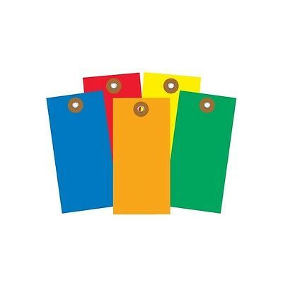 """""""Tyvek Shipping Tags, Pre-Wired, 4 3/4""""""""x2 3/8"""""""", Yellow, 100/Case"""""""