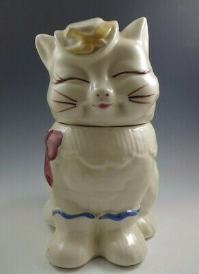 1940's ORIGINAL SHAWNEE POTTERY PUSS'N BOOTS COOKIE JAR YELLOW BIRD,