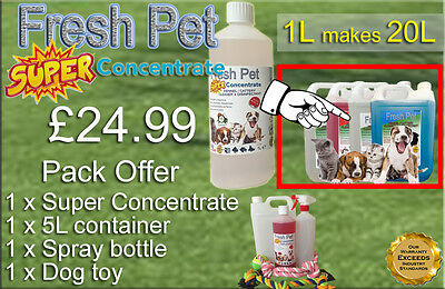 FRESH PET SUPER PACK Kennel Cattery Disinfectant to make 20L +EXTRAS COCONUT