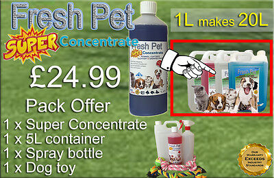 FRESH PET SUPER PACK Kennel Cattery Disinfectant to make 20L +EXTRAS - ALPINE