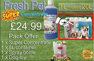 FRESH PET SUPER PACK Kennel Cattery Disinfectant to make 20L +EXTRAS BABY POWDER