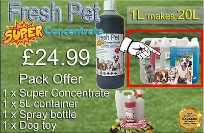 FRESH PET SUPER PACK Kennel Cattery Disinfectant to make 20L +EXTRAS FLORAL
