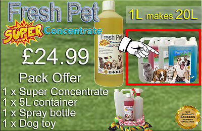 FRESH PET SUPER PACK Kennel Cattery Disinfectant to make 20L +EXTRAS VANILLA