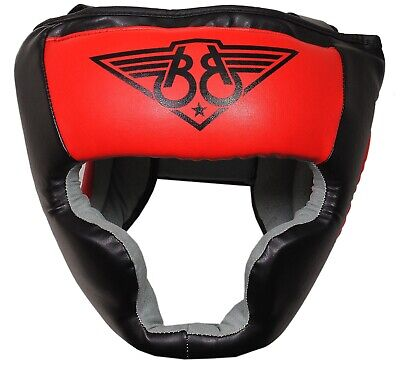 BOOM Prime Leather Boxing Head Guard Head Protector Helmet Martial Arts MMA UFC