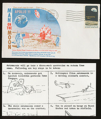 APOLLO 11 - Man on the Moon, Swanson cachet, pmk Patrick AF Basel, July 20, 1969