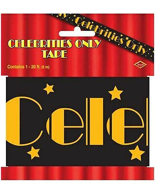 20ft CELEBRITIES ONLY PARTY TAPE Hollywood Birthday Decoration Party Banner 6108