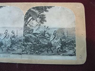 Stereoview Christian Christianity Bible Scene The Flight Into Egypt (O) AS IS