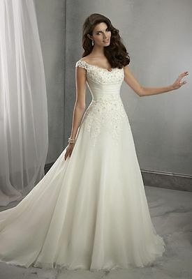 2016 New white/ivory Wedding Dress Bridal Gown Custom Size 6 8 10 12 14 16 18++