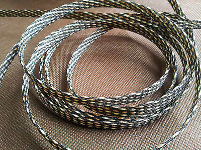 hifi audio Cable Sleeving High Density Braided 7mm Diameter Expandable Sleeve
