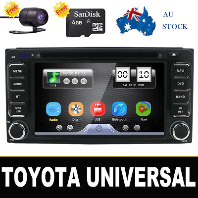 Car Electronic Auto 2Din Car Dvd Player GPS Radio PC Video USB Monito For Toyota