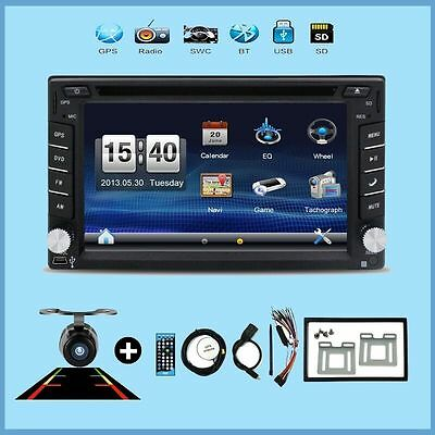 Video Double 2 DIN GPS 6.2 Inch Touch screen DVD Player Receiver Bluetooth Dash