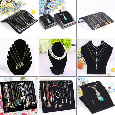 Necklace Pendant Jewelry display Holder Black Organizer 12 Types Stand Shower